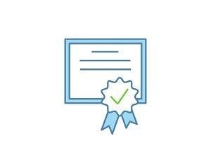 Certificate color icon