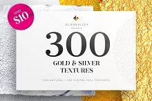300 Gold & Silver Foil Textures