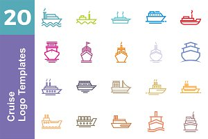 20 Logo Cruise Templates Bundle