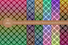 Gradient Checkered Plaid Patterns