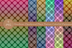 Gradient Checkered Plaid Patterns