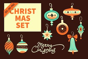 Christmas Toy Vintage Clipart