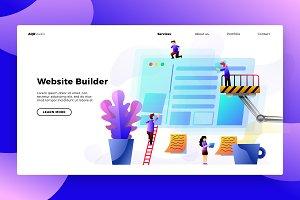 BuildinWebsite - Banner&Landing page