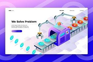 Problem Fixer - Banner &Landing Page