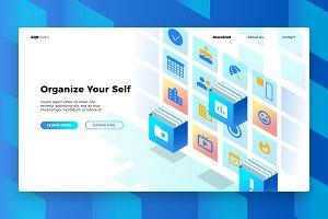 OrganizerApp - Banner & Landing Page