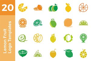 20 Logo Lemon Fruit Templates Bundle