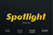 Spotlight I Sans Serif Family by  in Sans Serif Fonts
