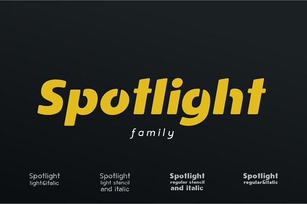 Sans Serif Fonts: phitradesign fonts - Spotlight I Sans Serif Family