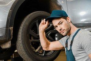 auto mechanic during work