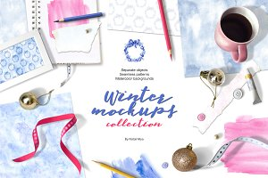 Winter mockups collection