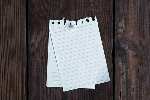 two empty notepad paper