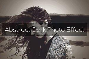 Abstract Dark Photo Effect