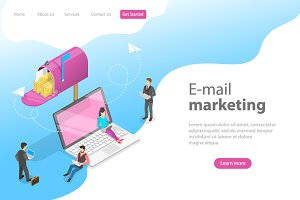 landing page of e-mail marketing