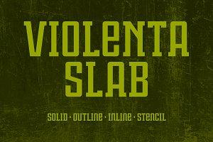 Violenta Slab Font Family