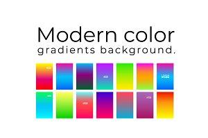Color gradients background.