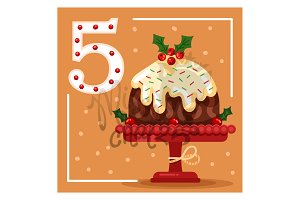 December 5: Christmas Pudding Cake
