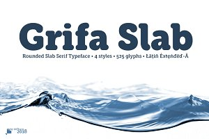 Grifa Rounded & Slab -4 fonts-