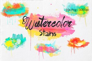 Decorative Watercolor Stains