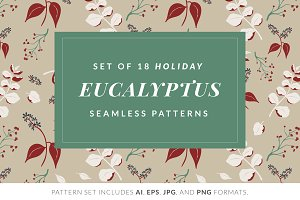 Christmas Eucalyptus Pattern Pack