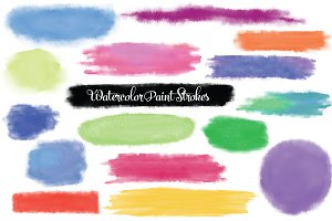 Watercolor Paint Stroke Textures