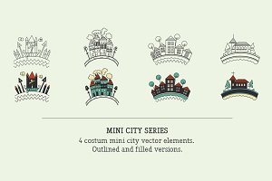 Mini City Vector Badges