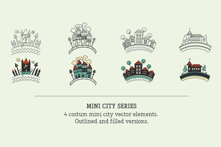 Mini City Vector Badges