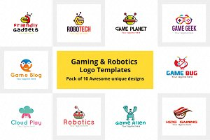 Gaming & Robotics Logo Templates