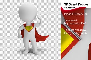 3D Small People - Superhero