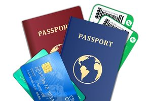 Air tickets, passports, credit cards