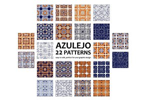 22 Azulejo patterns. BIG SET