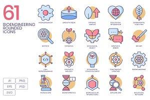 61 Bioengineering Round Icons