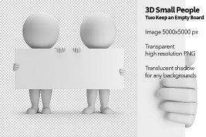 3D Small People - Two Keep an Empty
