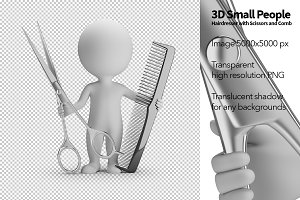 3D Small People - Hairdresser