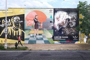 Mural Street Mockup - PSD