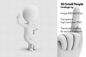 3D Small People - Forefinger Up