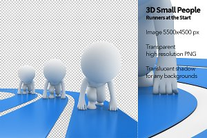 3D Small People - Runners
