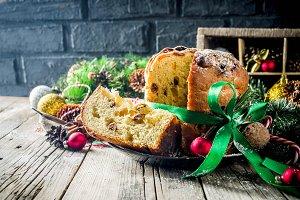 Traditional Christmas panettone