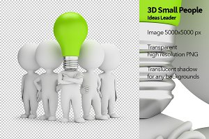 3D Small People - Ideas Leader