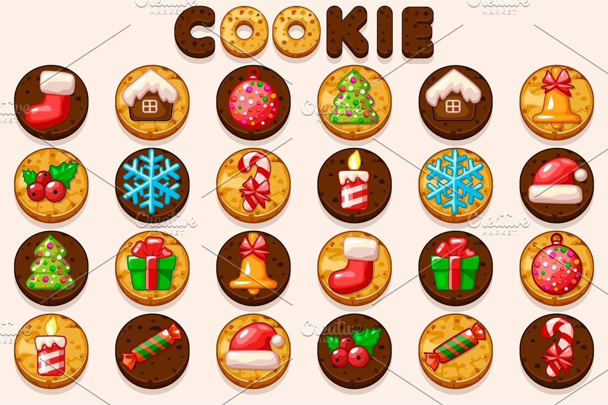 Big Set Christmas Cookies