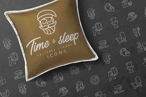 Time to sleep icons collection