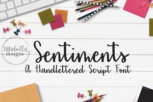 Sentiments - A Handlettered font