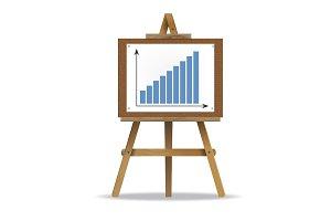 Graph Presentation Vector Icon
