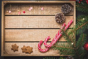 Wooden background for Christmas