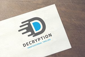 Letter D - Decryption Logo