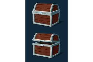 Closed wooden crate