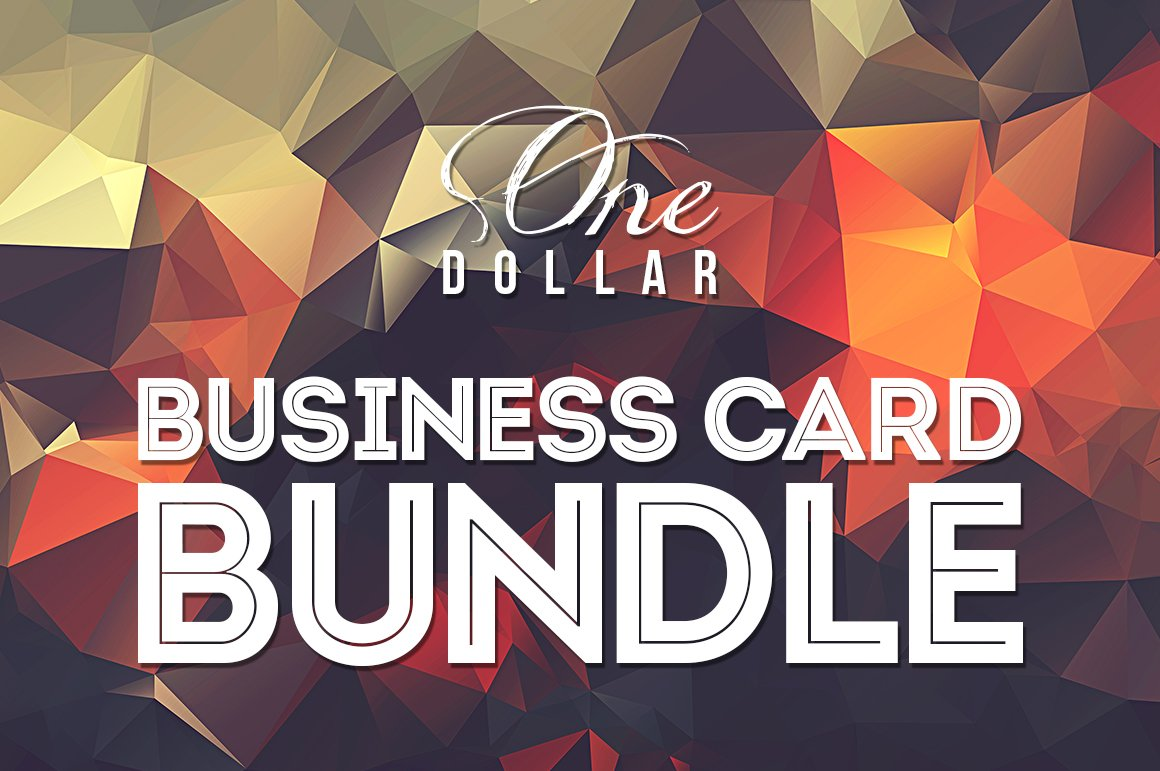 One Dollar Business Card Bundle x20 ~ Business Card Templates ...