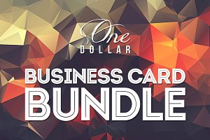 One Dollar Business Card Bundle x20