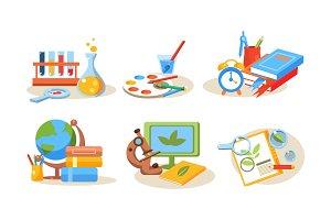 School supplies set, educational