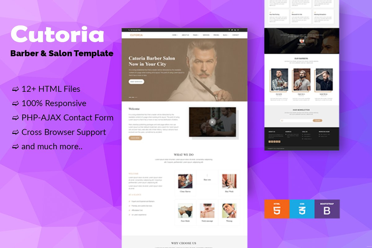 Cutoria - Barber & Salon Template