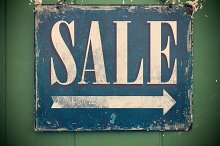 Worn Sale Sign 2